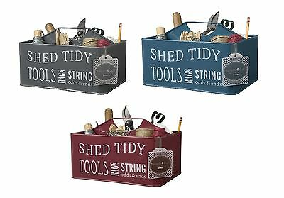 Burgon and Ball Enamel Shed Tidy / Caddy / Tool Carrier