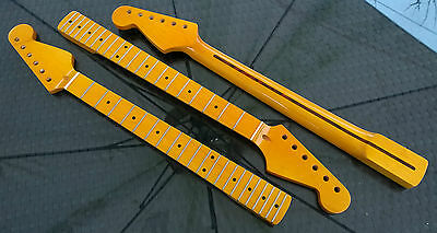 Stratocaster Canadian Maple Strat Neck, 21 fret Maple Fretboard, Vintage Gloss
