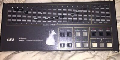 Vintage Nsi Midi 616 Memory House Lighting Console Fader Effects Pro Stage