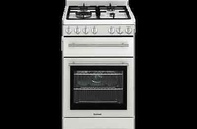 Euromaid 54cm Gas Upright Cooker Separate Grill Model GG54GOW RRP $1099.00