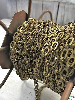 Vintage Brass Chain #0 Workload 35 lb Vintage Peerless Reel Spool Safety Plumber