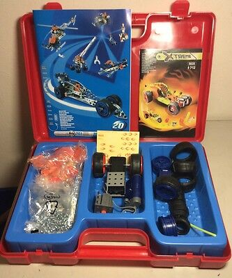 MECCANO ERECTOR Motion System 6520 & 5820 Meccano Case NEVER Fully Assembled