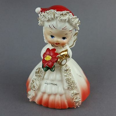 Napco December Angel Birthday Figurine Bell of the Month Vintage 1956