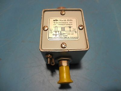 North Hills RF Transformer NH 11251 50 OHM Balanced/Unbalanced 50 OHM Unbalanced