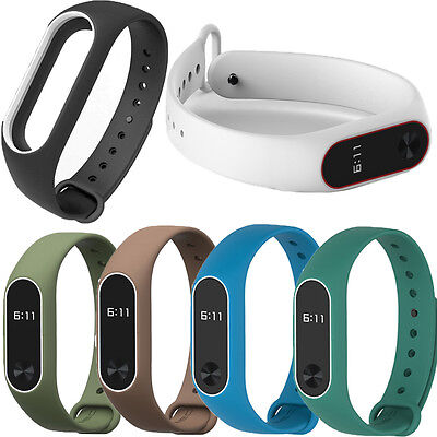 Original Replacement Wristband Metal Buckle Watchband Strap For Xiaomi Mi Band 2