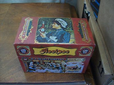 Heinz Litho Advertising Recipe Box Metal Great Condition