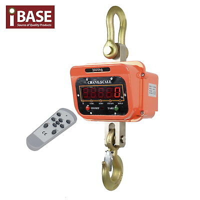 3000Kg Electronic Crane Scale Digital Industrial Medical Hook Hanging Weight 3T