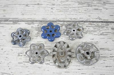 6 Vintage Water Valve Faucet Handles Knobs Steampunk  #1