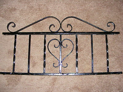 Wrought Iron Window Panel Roof Crest Garden Fence Grate 31 x 15 Cast