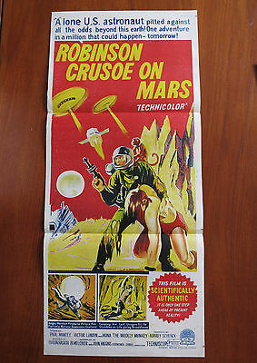 ROBINSON CRUSOE ON MARS Original Australian Daybill Movie Poster + Mexican Card