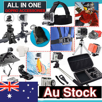 Accessories Pack Case Head Chest Surf Mount for GoPro Hero 5 4 3+ 3 2