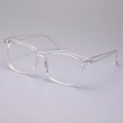 VINTAGE MEN WOMEN Transparent Eyeglass Frame G Spectacles Clear Lens ...