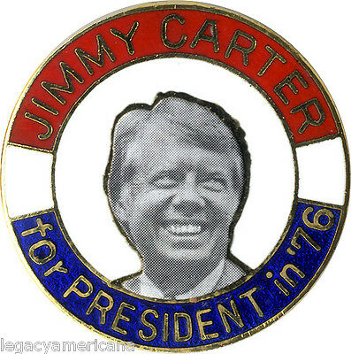 1976 Campaign Jimmy Carter for President Enamel Lapel Pin (5148)