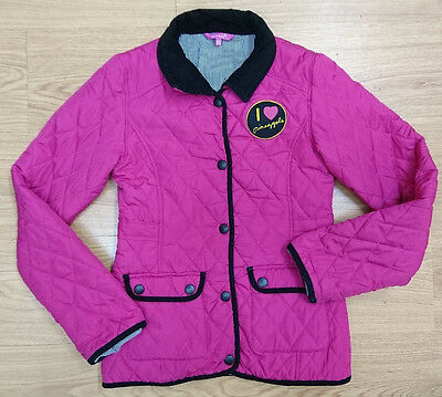 girls PINEAPPLE coat jacket age 12-13 years pink quilted