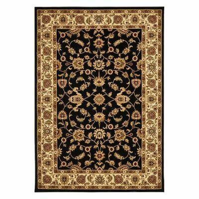 NEW Rug Culture Royal Border Oriental Rug in Black, Grey, Red