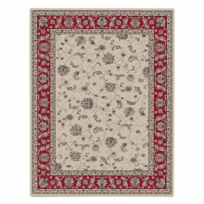 NEW Saray Rugs Orchid Spring Oriental Rug in Beige, Black, Red