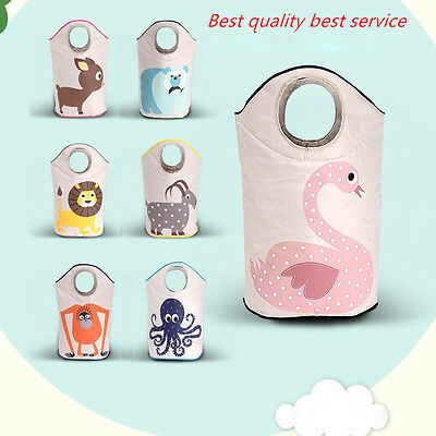 Baby Clothes Toy Storage Bin Collapsible Laundry Basket Bedroom Organizer Bag