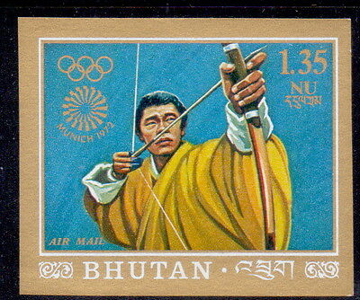 Bhutan  imperf stamp  Martial Arts | Olympic Games 1972  mnh.