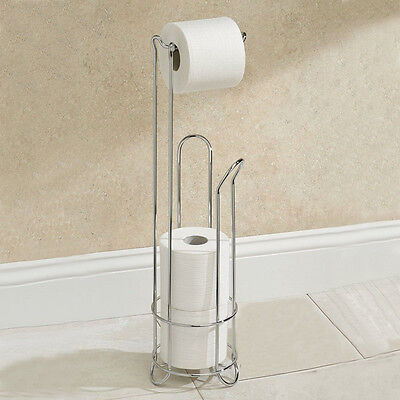 Electroplating Stainless Steel Toilet Paper Holder Bathroom Tissue Storage Stand