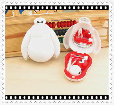 Big Baymax Shaped Contact Lens Case Travel Kit US Pupil Container Storage Box