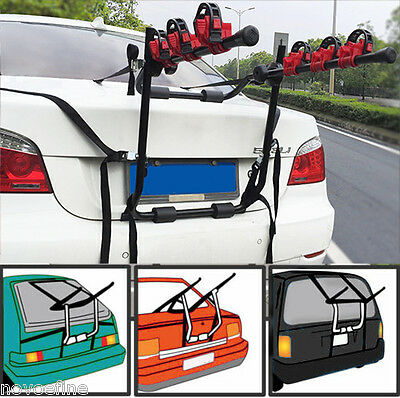 Bullet 3 Bicycle Car Bike Rack Carrier Rear Hitch Mount Steel Foldable Strap-on