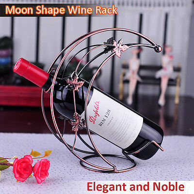 Moon Shape Wine Champange Bottle Rack Holder Wine Accessaries • AUD 22.37