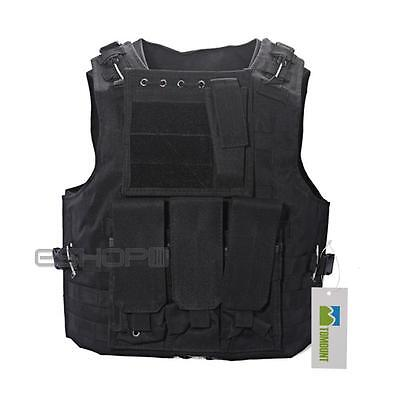 Military Tactical SWAT Police Airsoft Molle Combat Assault Plate Carrier Vest