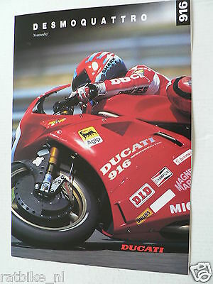 D692 Brochure Ducati 916 Desmoquattro English/german 4 Pages 1994
