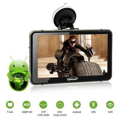 """7"""" GPS 1080P HD DVR Android 4.4 with Dash Cam Touchscreen FM Transmitter U.S"""