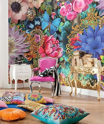 Wall Mural Photo Wallpaper MELLI MELLO KEVENA Abstract Flowers Decor 368x254cm