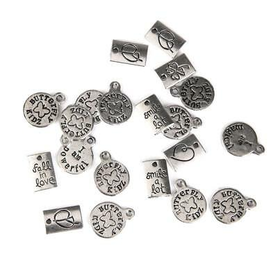 20pcs Tibetan Silver Charm Round Pendant Bead Craft DIY Jewelry Making