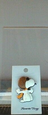Vintage Peanuts Snoopy Flying Ace PVC Jewelry Forever Things Pin Mint