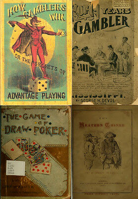 60 Old Rare Books On Gambling, Gamblers, Cheats, Playing Cards, Luck Game On Dvd