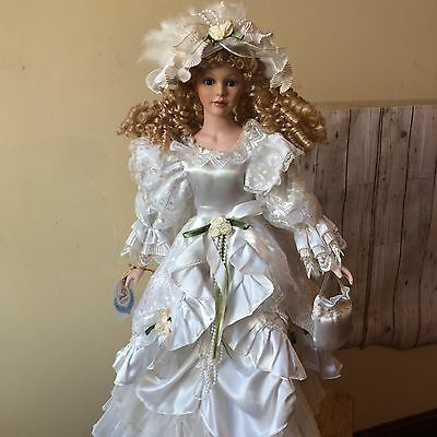 """Porcelain Doll Approx 29"""" China From The LuLa Dolls Collection"""
