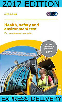 NEW 2017  CSCS CARD TEST BOOK for Operatives and Specialists: CITB GT 100/17