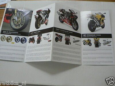 D859 Brochure Aprilia Rsv Mille Racing Parts Italian ? 4 Pages Folded Not 100 %