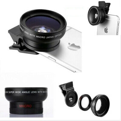 37mm 0.45X HD Super Wide Angle Macro lens Camera Lens + Case For iPhone Samsung