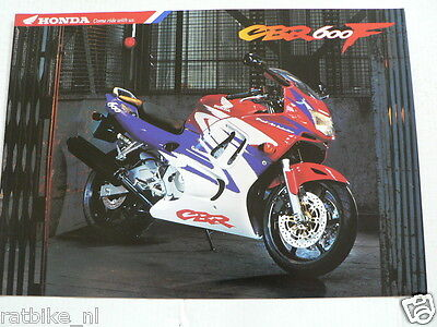 H049 Honda  Brochure Prospekt Folder Cbr600F Dutch 6 Pages 1997 ?