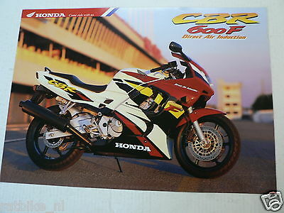 H062 Honda  Brochure Prospekt Cbr600F Direct Air Induction Dutch 6 Pages  1995 ?