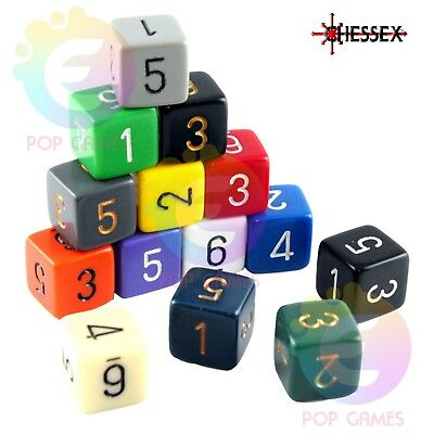 dadi d6 OPACHI Chessex COLORE CASUALE Opaque dice Pathfinder D&D RPG sei facce