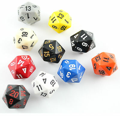 dadi d20 OPACHI Chessex COLORE CASUALE Opaque Pathfinder D&D RPG venti facce