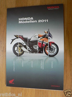 H189 Honda  Poster Brochure 2011 All Models And Cbr600F Dutch 16 Pages Folded Ou