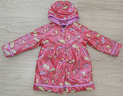 AUTOGRAPH M&S girls coat jacket age 3-4 years waterproof rain fleece lined