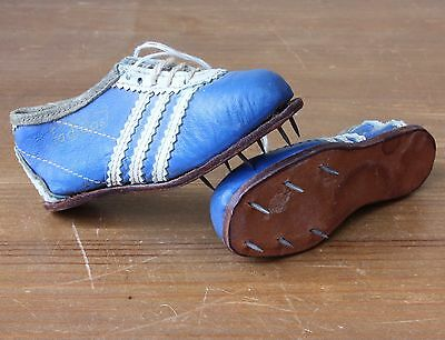 Vintage 1950s Mini Running Spikes adidas Miniature Track Running Leather Shoes