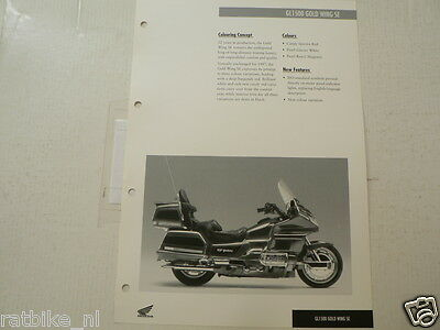 H358 Honda  Brochure Gl1500 Gold Wing Se 1997 English 2 Pages