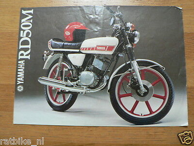 003 Vintage Yamaha Brochure Prospekt Rd50M Dutch 4 Pages Around 1979 Moped