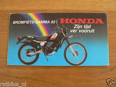 062 Honda Moped Gamma 82 Vintage Brochure Dutch 16 Pages Mb Bol D'or,c70,melody,