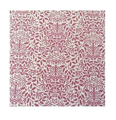 'Acorns' Pattern Wallpaper - Violet on a White Background - for a dolls house