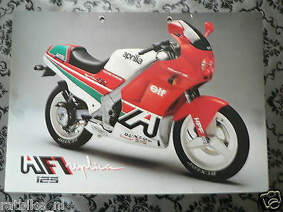 Brochure Aprilia Af1 125 Replica German,english,french Language 2 Pages ,ph634