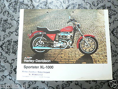 Brochure Harley-Davidson Sportster Xl-1000  English 2 Pages Ph660